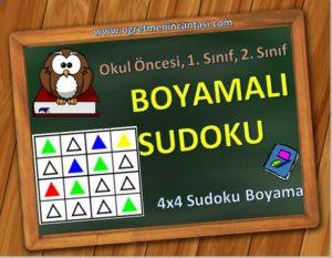 Sudoku Boyama - Boyamalı Sudoku
