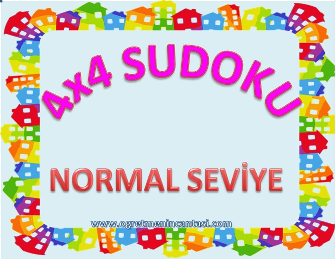 4X4 Sudoku Normal Seviye
