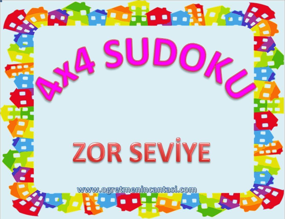 4X4 Sudoku Zor Seviye