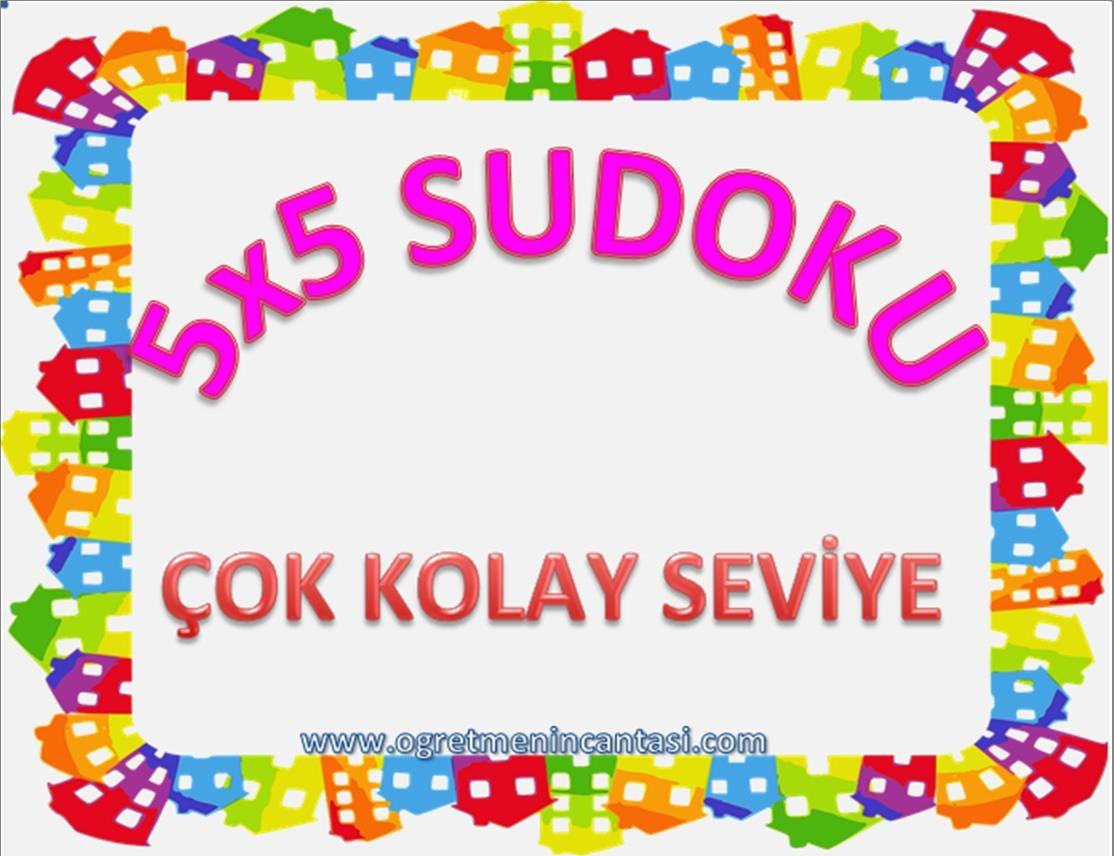 5X5 Sudoku Çok Kolay Seviye