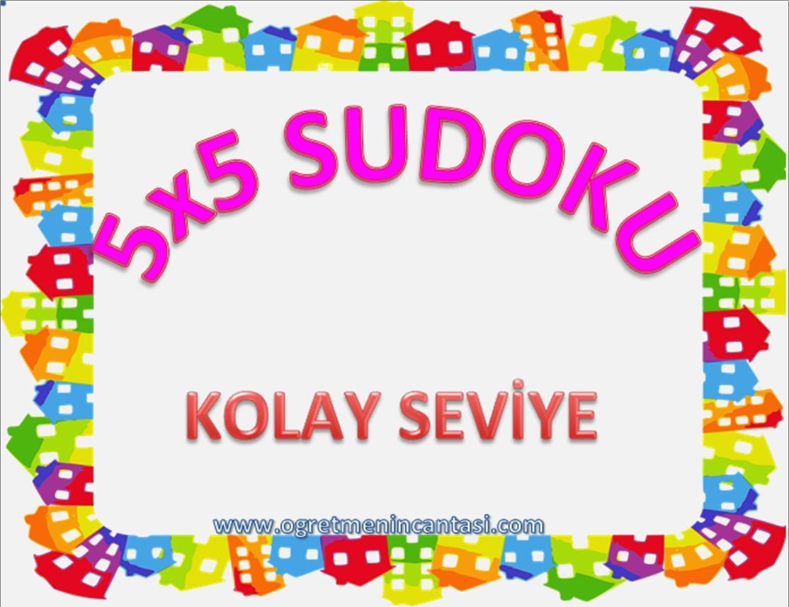 5X5 Sudoku Kolay Seviye