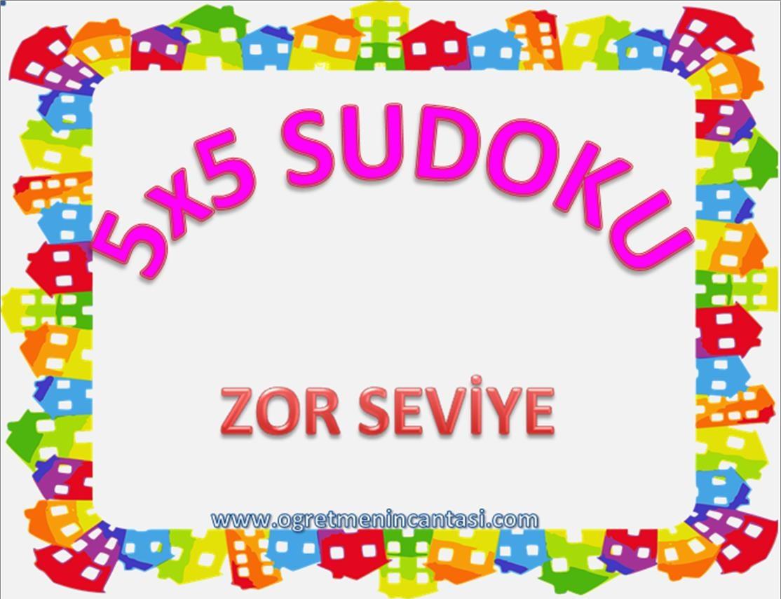 5X5 Sudoku Zor Seviye