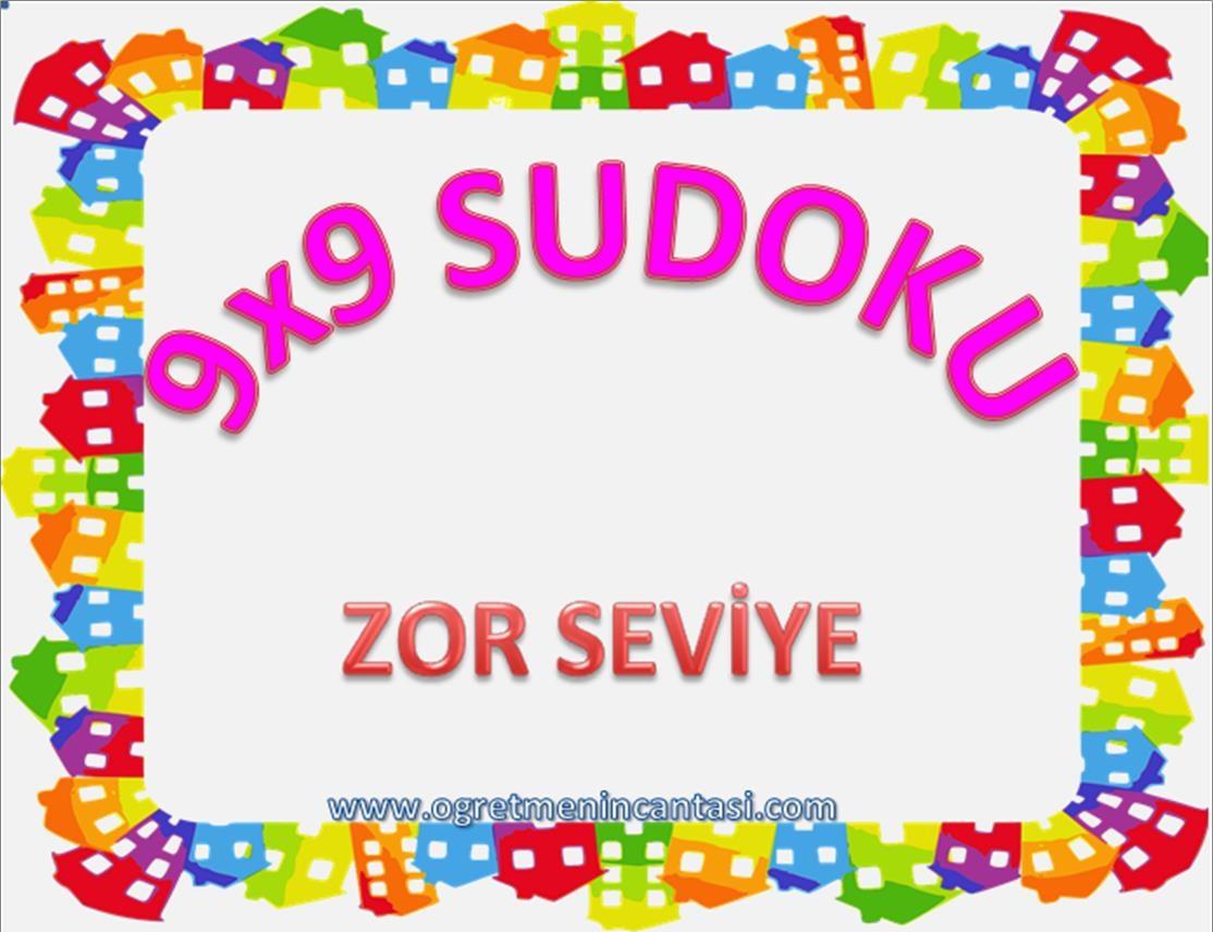 9X9 Sudoku Zor Seviye